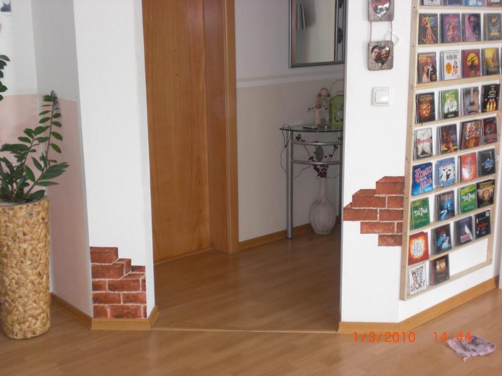 wohnzimmerz: wandgestaltung flur with kreative wandgestaltung in